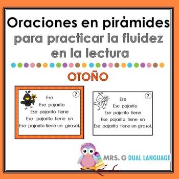 Spanish Fluency Practice ~ Pyramid Sentences ~ Fall
