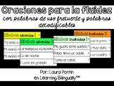 Spanish Fluency Sentence Strips