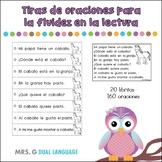 Spanish Reading Fluency Strips . Practica de fluidez para la lectura