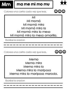 Spanish Fluency Sentences
