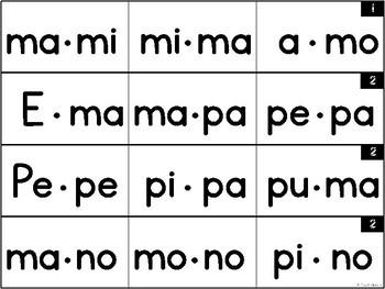 Spanish Fluency Strips | Level 2
