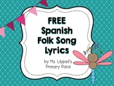 Spanish Folk Song Lyrics (Free)