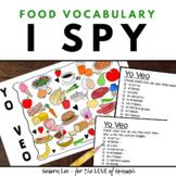 Spanish Food - Spanish I SPY Activity - Spanish Colors