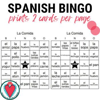 Spanish Food Bingo | La Comida