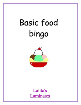 Spanish Food Bingo