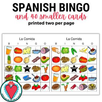 Spanish Food Bingo