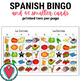 Spanish Food Bingo with Pictures