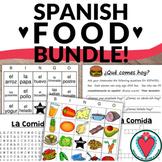 Spanish Food Bundle: Crossword, Word Search, Bingo, Speaking Activity
