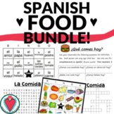 Spanish Food Bundle: Crossword, Word Search, Bingo, Speaking Activity