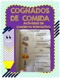 Spanish Food Cognates activity for Interactive Journal. Du