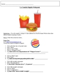 Spanish Food / Fast Food Restaurant Webquest