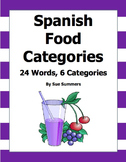 Spanish Food Groupings - 24 Words with 6 Categories