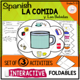 Spanish Distance Learning LA COMIDA Food Interactive Notebook