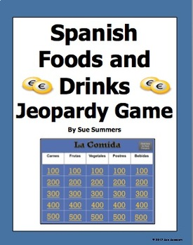 Spanish Food Jeopardy Game - La Comida