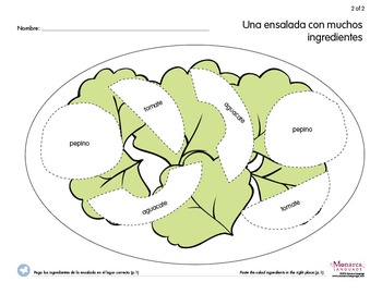 All about Food {Spanish printable worksheets, games and crafts}