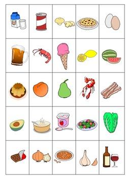 Spanish Food La Comida Bingo By Angie Torre Teachers Pay