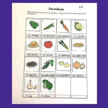 Spanish Food La comida Interactive Notebook Activities