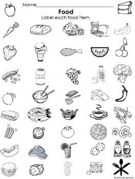 Spanish Food Labeling Activity
