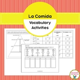 Spanish Food (La Comida) Vocabulary Activities