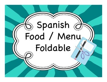 Spanish Food / Menu Fold-It