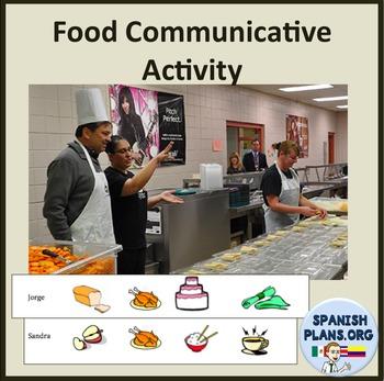 Spanish Food Oral Partner Speaking Listening Activity Comida