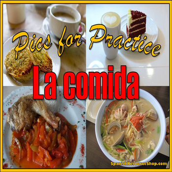 Spanish Food Pics for Practice Powerpoint
