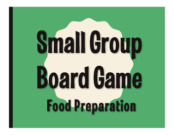 Spanish Food Preparation Board Game