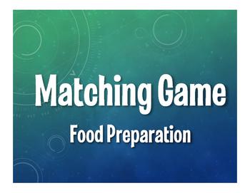 Spanish Food Preparation Matching Game