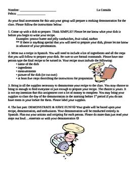Spanish: Food: Preparing and Presenting a Recipe
