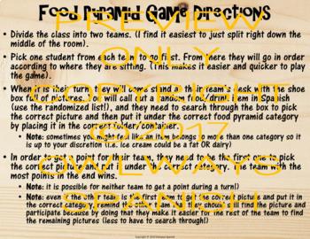 Realidades 1 - 3B - Spanish Food Pyramid Game