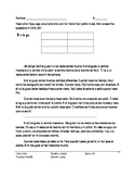 Spanish Food Reading with Comprehensions Questions
