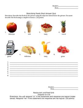 Spanish Food & Restaurant Assessments