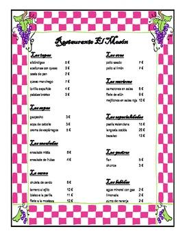 Spanish Food - Restaurant Role Play!