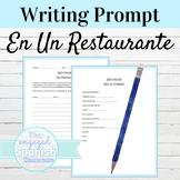 Spanish Food / Restaurant Writing activity: Buen Provecho