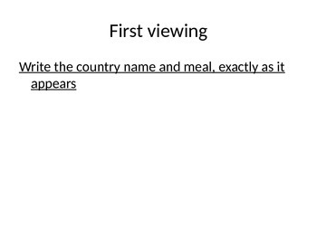 Spanish Food Scaffolded Writing