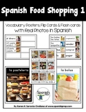 Spanish Food Shopping 1 Vocabulary Posters & Flashcards wi