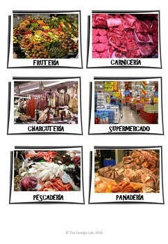 Spanish Food – Food Shopping Lesson Plan: Speaking Activity + Flashcards