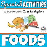 Spanish Food Unit Bundle