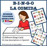Spanish Food Vocab Bingo