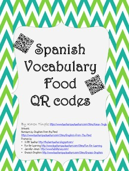 Spanish Food Vocabulary