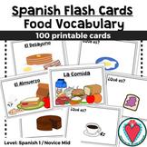 Spanish Flash Cards - Food Vocabulary