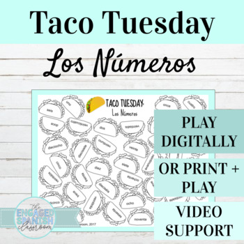 Spanish Numbers Taco Tuesday Game