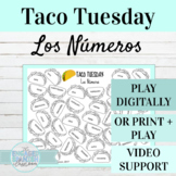 Spanish Numbers Activity | Taco Tuesday Digital or Print Game