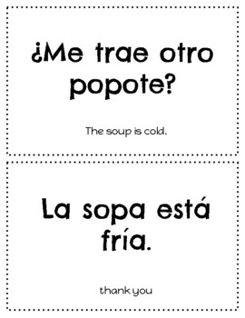 Spanish Food Vocabulary PowerPoint