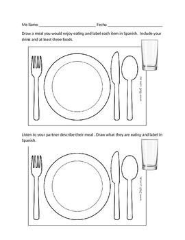 Spanish Food Vocabulary (Speaking, Listening Skill Activity)
