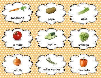 Spanish Food Vocabulary and Discussion Cards - Diferentiated