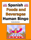 Spanish Food and Beverages Human Bingo Game Speaking and Written Follow-up