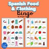 Spanish Food and Clothing Bingo Games