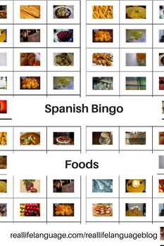 Spanish Food and Drink Bingo