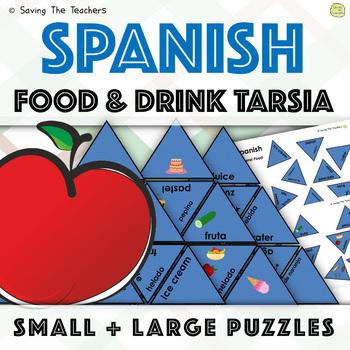 Spanish Tarsia Puzzle: Food and Drink